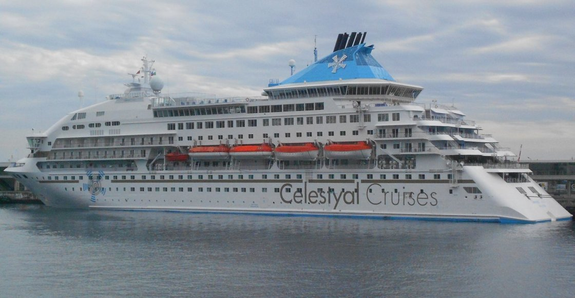 Celestyal Crystal cruise ship sailing to homeport